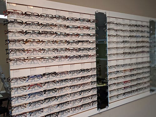 selection of eye glasses frames in oakville mo