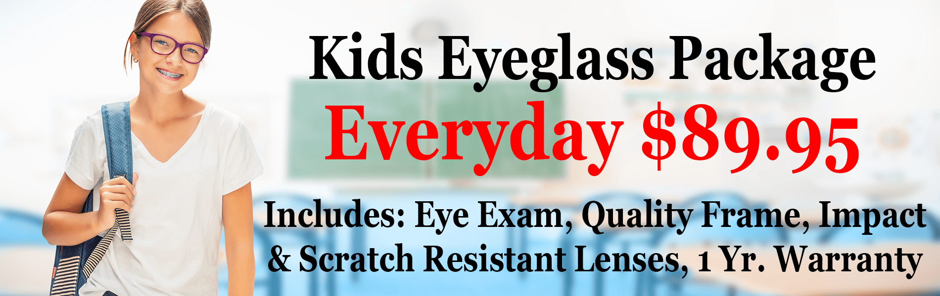 back to school kids eyeglass package oakville mo